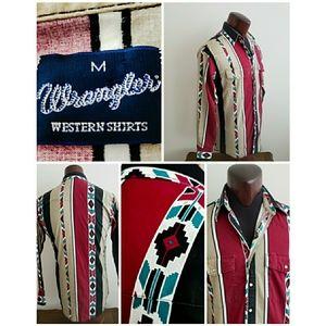 Vintage 90's Mens Wrangler Western Shirt
